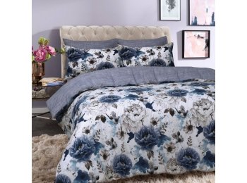 INKY FLORAL BLUE