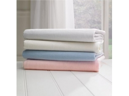 100% Brushed Thermal Cotton Flannelette Solid Fitted Sheets or Pillowcases