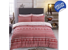 RED FAIRISLE KINGSIZE