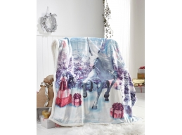 CHRISTMAS UNICORN THROW