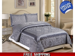 BETTY 4PC GREY KINGSIZE