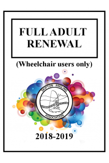 FULL ADULT RENEWAL - WCU
