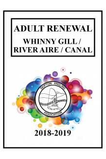 WHINNY GILL, RIVER AIRE & CANAL - RENEWAL ADULT