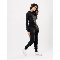 Black Distressed Tracksuit