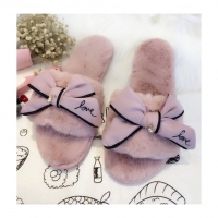 Pretty Pink Bow Slippers