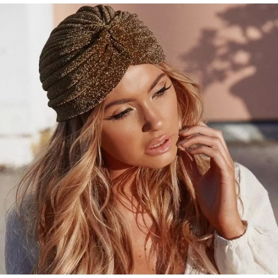 Gold Knot Twist Turban