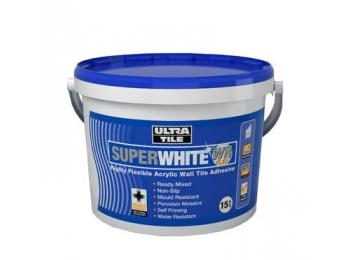UltraTile SuperWhite WR Flex Wall Tile Adhesive