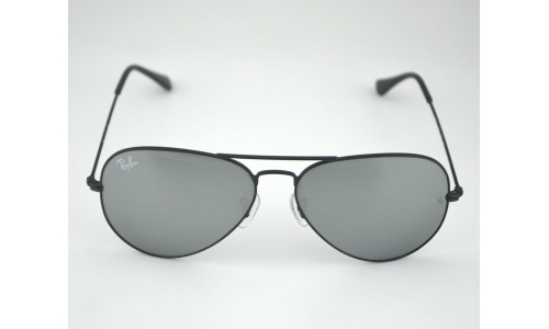 1499a262dc Ray Ban RB 3025 Aviator Mirror 002 40 Black   Silver Mirror Glass Lens  Unisex Sunglasses 58mm