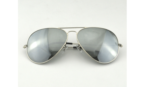 Ray Ban RB3026 Aviator Large Metal ⅡW3277 Silver Mirror Lens Sunglasses 62mm c3cc2f8ee4319