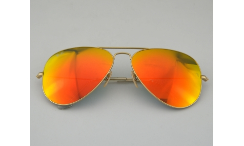 0c354e80127 Ray Ban RB3026 Aviator Large Metal ⅡFlash Lenses 112 69 Orange Flash Lens  Sunglasses 62mm