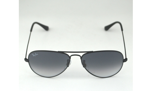 Ray-Ban RB3025 Aviator 002/32 Black Metal Frame/Polarized Blue/Gray ...