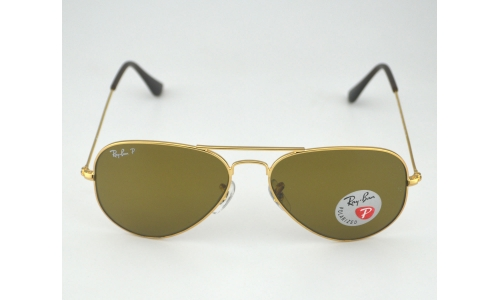 8cfca913af Ray-Ban RB3025 Aviator Classic 001 57 Gold Frame Polarized Brown Classic  Glass Lens Unisex Sunglasses 55mm