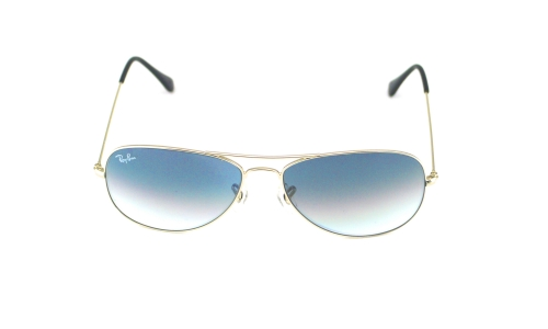 7029779b3a Ray Ban RB 3362 Cockpit 003 32 Silver   Light Grey Gradient Glass Lens  Unisex Sunglasses 56mm