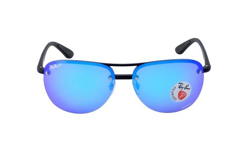 819f361ea2a Ray-Ban RB4293CH 601 A1 Black Frame Polarized Blue Mirror ...