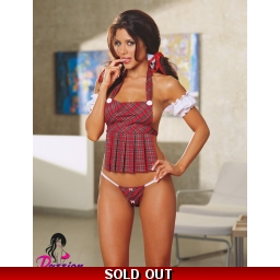 Hot School Girl Plaid Uniform