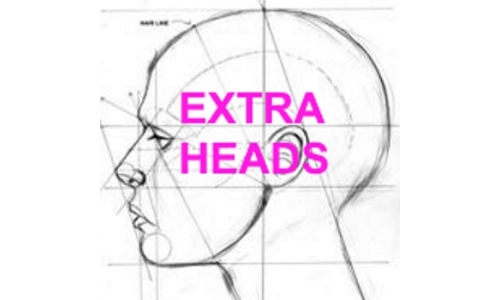 EXTRA TPE HEAD ONLY [FOR PURCHASE OF TPE/SILICONE MANNEQUIN DOLL HEAD]