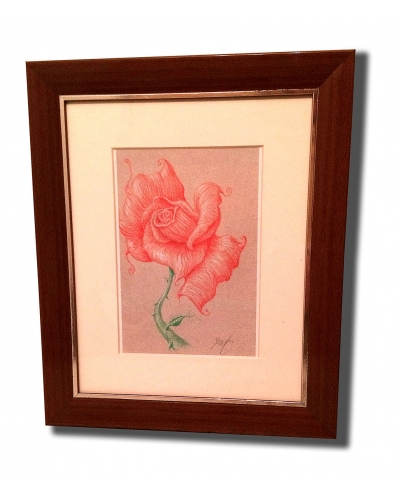 Deepa Rose Framed & Matted