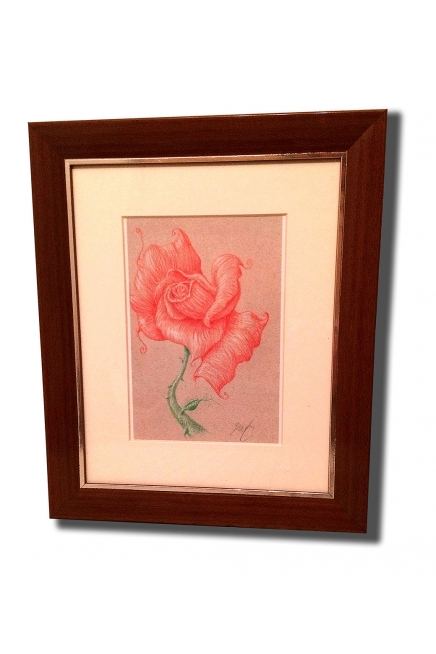 Deepa Rose Framed & Mat..
