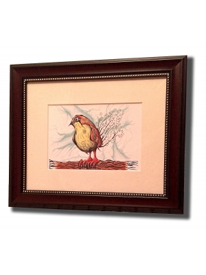 Parakeet Framed & Matted
