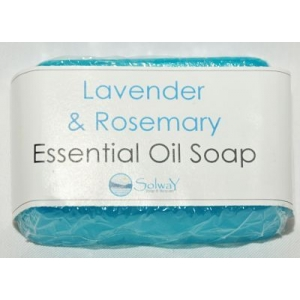 Lavender and Rosemary Essential Oil clear Soap