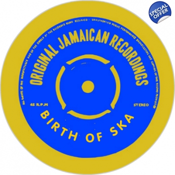 Original Jamaican Recordings Birth Of Ska Blue Beat Tribute Badge