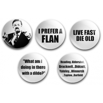 David Brent The Office Quote Badge Set