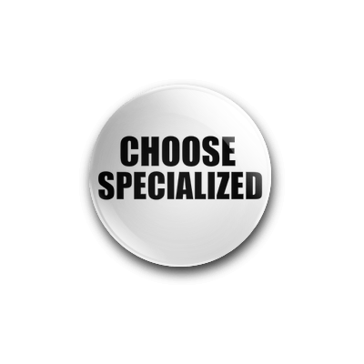 CHOOSE SPECIALIZED 25mm BADGE