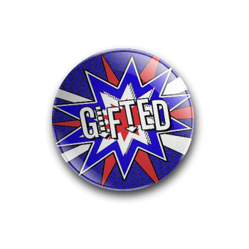 GIFTED 'POW!' BADGE