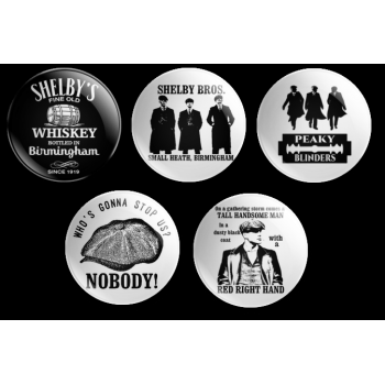 PEAKY BLINDERS 38mm BADGE COLLECTION