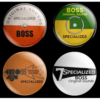 SPECIALIZED BOSS LABELS 25MM 4 BADGE SET