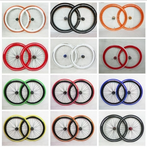 Coloured Fixie Wheel Sets