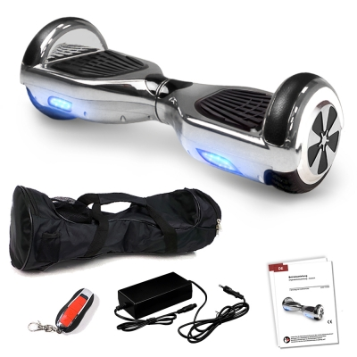 "6.5"" Silver Chrome Bluetooth Hoverboard"