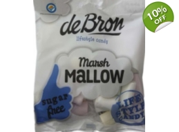 De Bron Sugar Free Marsh Mallows Sweets 75g Bag