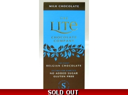 Milk Belgian Chocolate Bar 85g No Added Sugar Gluten Free