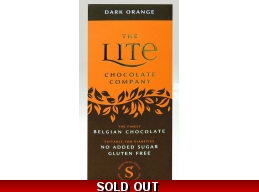 Dark Orange Belgian Chocolate Bar 85g No Added Sugar Gluten Free
