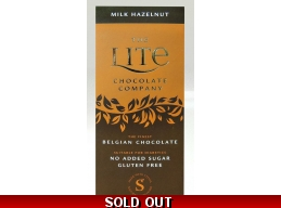 Milk Hazelnut Belgian Chocolate Bar 85g No Added Sugar Gluten Free