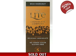 Milk Hazelnut Belgian Chocolate Bar 85g No Added Sugar BBE 6/2017