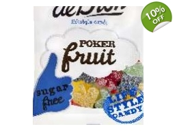 De Bron Sugar Free Poker Fruit Jellies Sweets 90g Bag