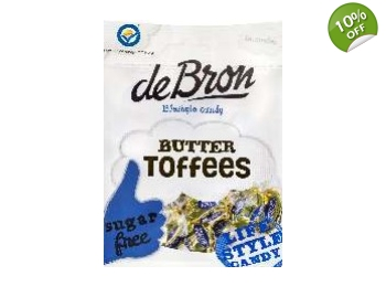 De Bron Sugar Free Butter Toffees Sweets 70g Bag