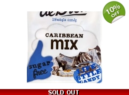 De Bron Sugar Free Caribbean Cream Toffees Sweets Mix 90g Bag
