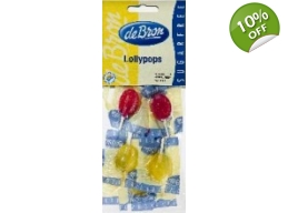 De Bron Sugar Free Lollypops Lollies x 10 Sweets