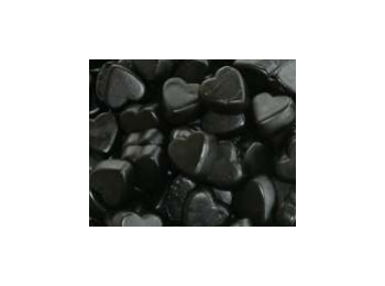 Liquorice Hearts Hard Dutch Sugar Free Salt Liquorice 100g