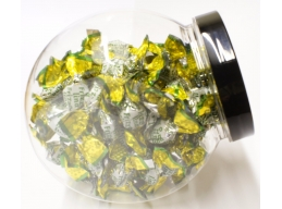 Fizzy Lemon Candies Sugar Free Sweets Gift Jar 100g