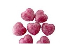 Mulled Claret Hot Wine Hearts Boiled Sugar Free Sweets 100g