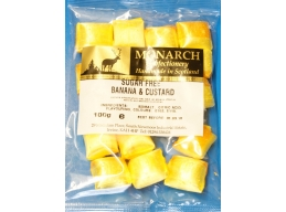 Banana & Custard Monarch Sugar Free Boiled Sweets 100g