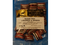 Liquorice & Aniseed Monarch Sugar Free Boiled Sweets 100g