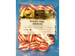 Aniseed Monarch Sugar Free Boiled Sweets 100g