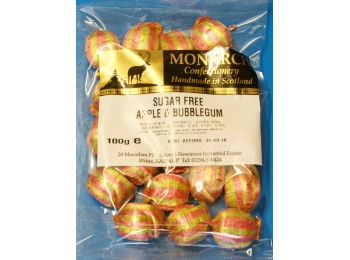Apple & Bubblegum Monarch Sugar Free Boiled Sweets 100g