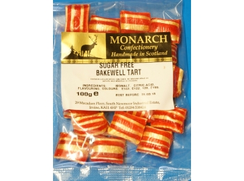 Bakewell Tart Monarch Sugar Free Boiled Sweets 100g