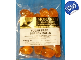 Brandy Balls Monarch Sugar Free Boiled Sweets 100g